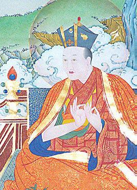 Traditional portrait of the Eighth Karmapa Mikyo Dorje