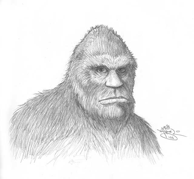 A depiction of Bigfoot