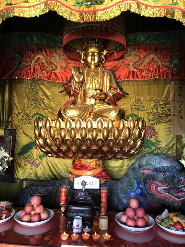 The Manjushri of Nectar (甘露文殊) statue