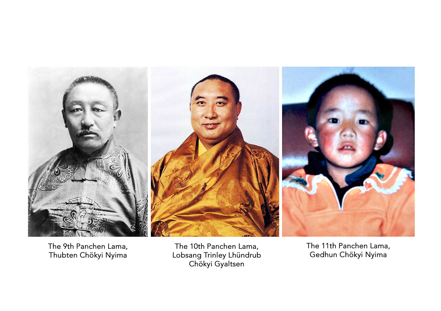 His Holiness the Panchen Lama. On the far right is the CTA-recognized 11th Panchen Lama. Again, their recognition of any Panchen Lama candidate contradicts their claim that worshipping Dorje Shugden sends you to the three lower realms. If that is the case, then the 10th Panchen Lama who relied on Dorje Shugden should have taken rebirth in the three lower realms, and there should not be a reincarnation. So why are the CTA recognizing any Panchen Lama? Their actions contradict their reasons for banning the Dorje Shugden practice. Click on image to enlarge.