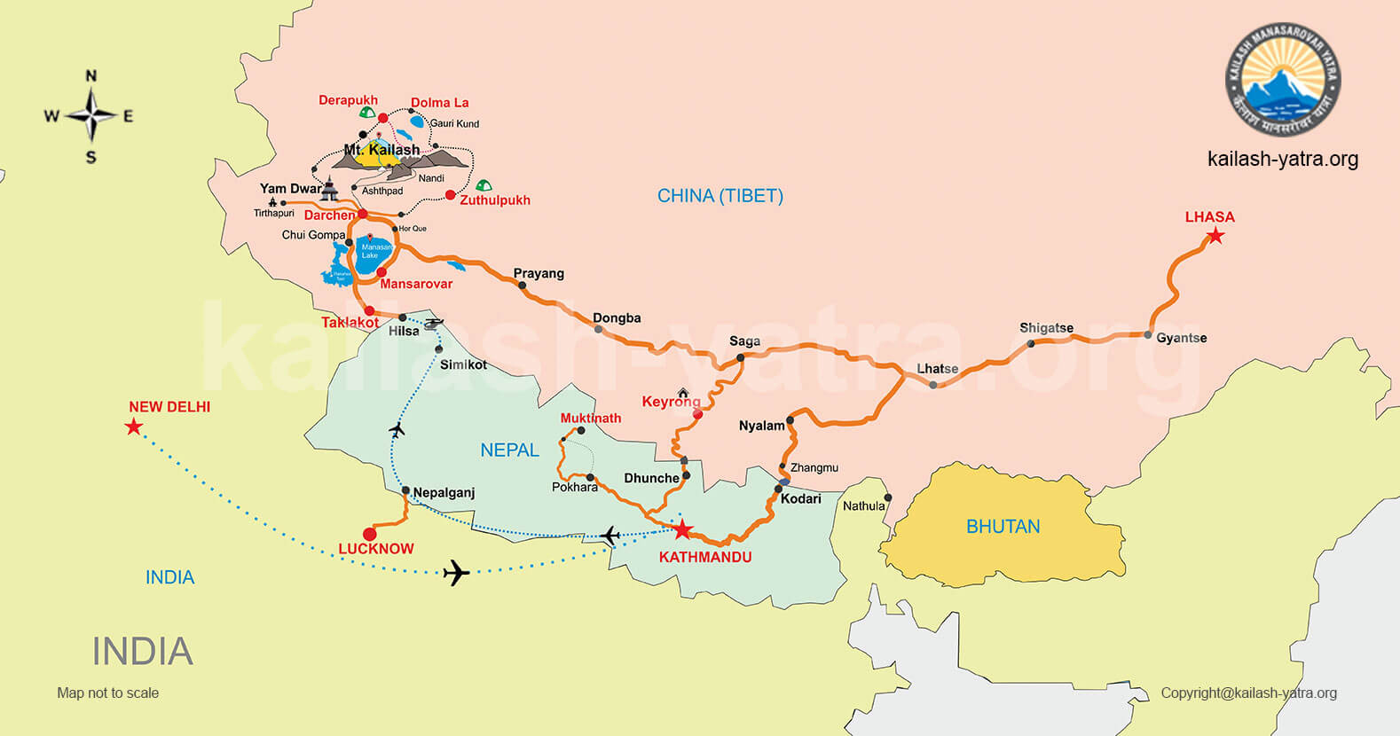 Another map of Mount Kailash. Click on image to enlarge.