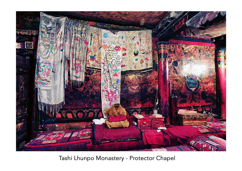 Dorje Shugden chapel in Tashi Lhunpo Monasery. Click on image to enlarge.