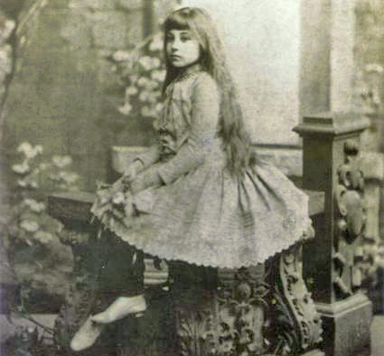 Helena at 10 years old. Even when Helena was young, she was very graceful and had a regal presence.