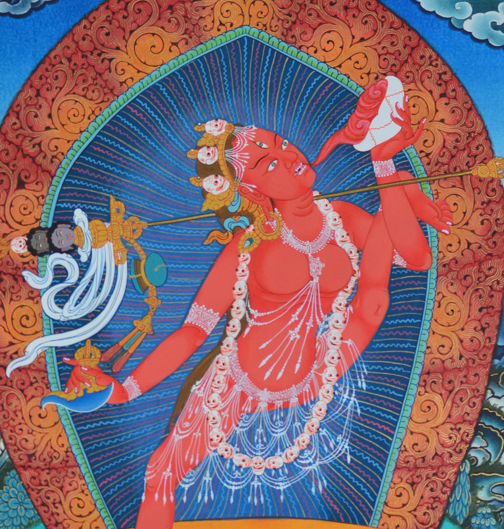 Red Kechari – Vajrayogini with left leg pointed skywards