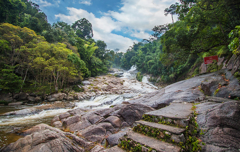 Nestled in the midst of Pahang's rainforest is Chamang Waterfall