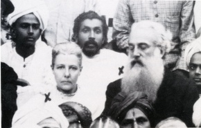 Dharmapala with Colonel Olcott and Annie Besant at 1893 Congress