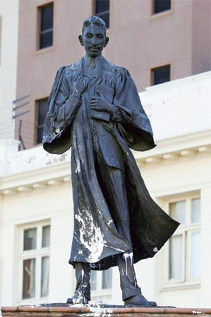 The statue of Mahatma Gandhi in Johannesburg, South Africa