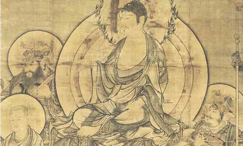An example of early Buddhist art in China. Depictions of the Buddha and Buddhist figures took on distinctly Chinese artistic features.
