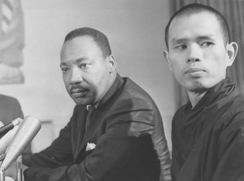 Thich Nhat Hanh with Dr. Martin Luther King, Jr.