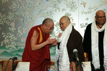 Thich Nhat Hanh with the Dalai Lama