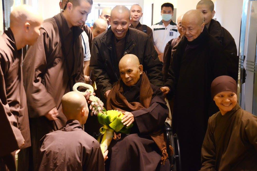 On November 11, 2014, Thich Nhat Hanh suffered a stroke which requires him to undergo intensive rehabilitation