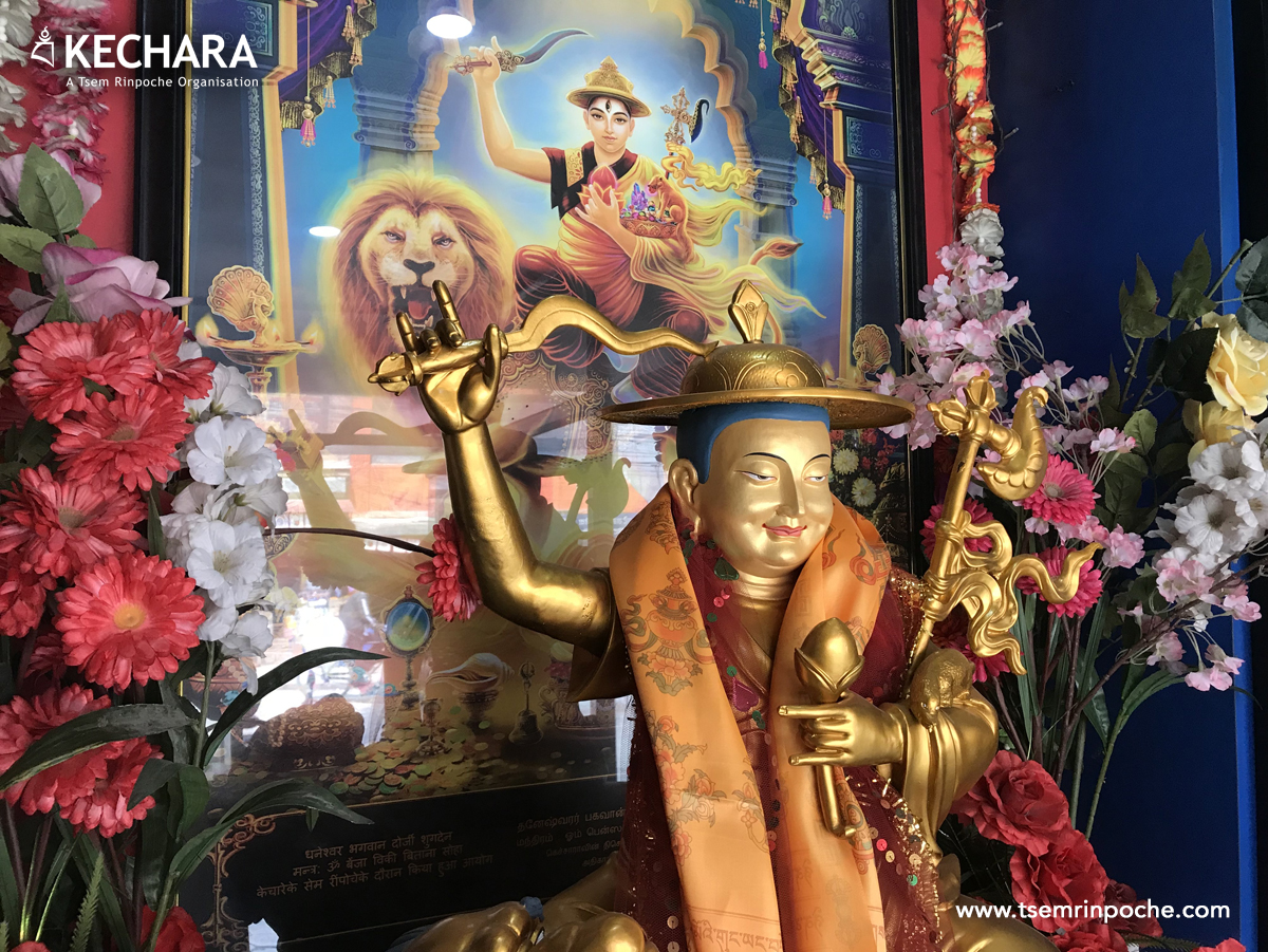 A close-up of the beautiful Dorje Shugden statue
