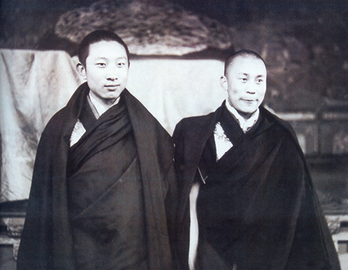 His Holiness the 14th Dalai Lama with His Holiness the 10th Panchen Lama in the 1950s