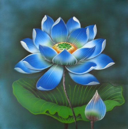 On one occasion when Atisha received a vision of Tara, a blue utpala flower fell from the sky as Atisha sat in his mother's lap.