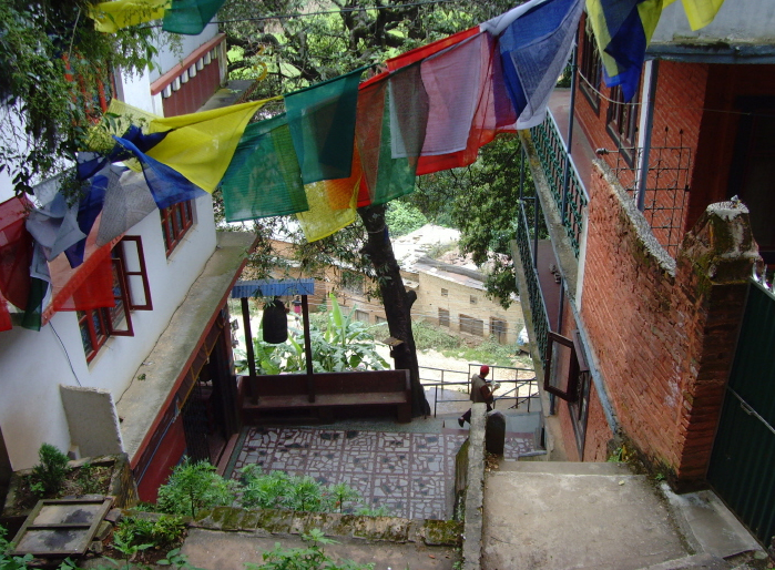 Ganesh-Saraswati Temple on the steps that lead up to the Rigzin Phodrang Monastery