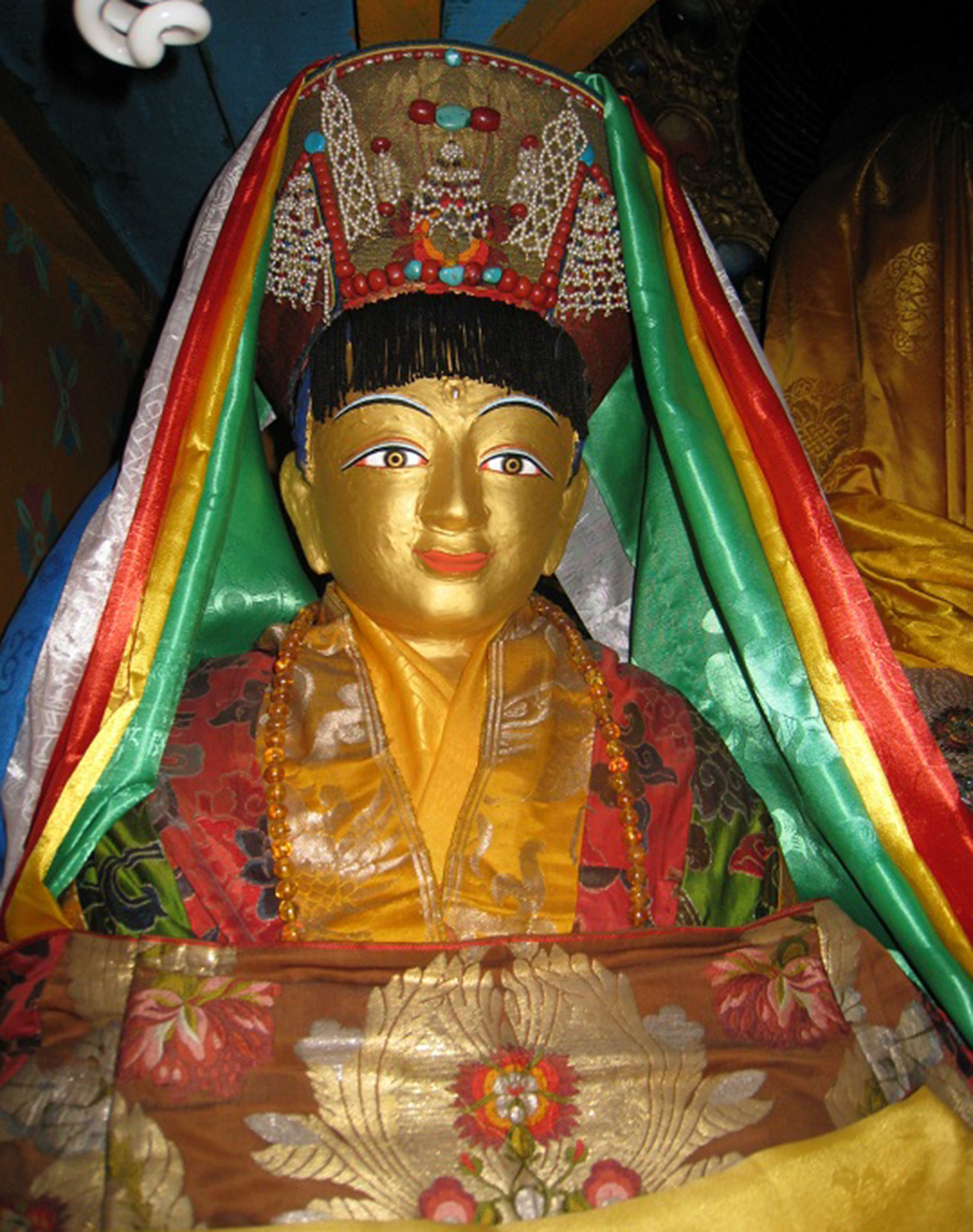 A rare statue of Jetsun Milarepa (1052— 1135 CE) made by his heart-disciple, Rechungpa during his lifetime.