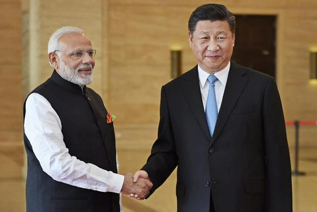 Indian Prime Minister Narendra Modi and Chinese President Xi Jinping meeting on April 27, 2018 in Wuhan, China.