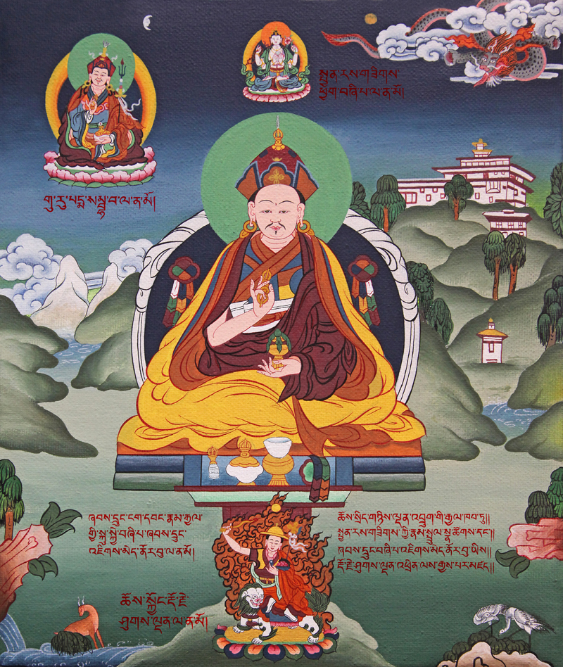 Place actual Jigme Norbu painting here. Click on image to enlarge.