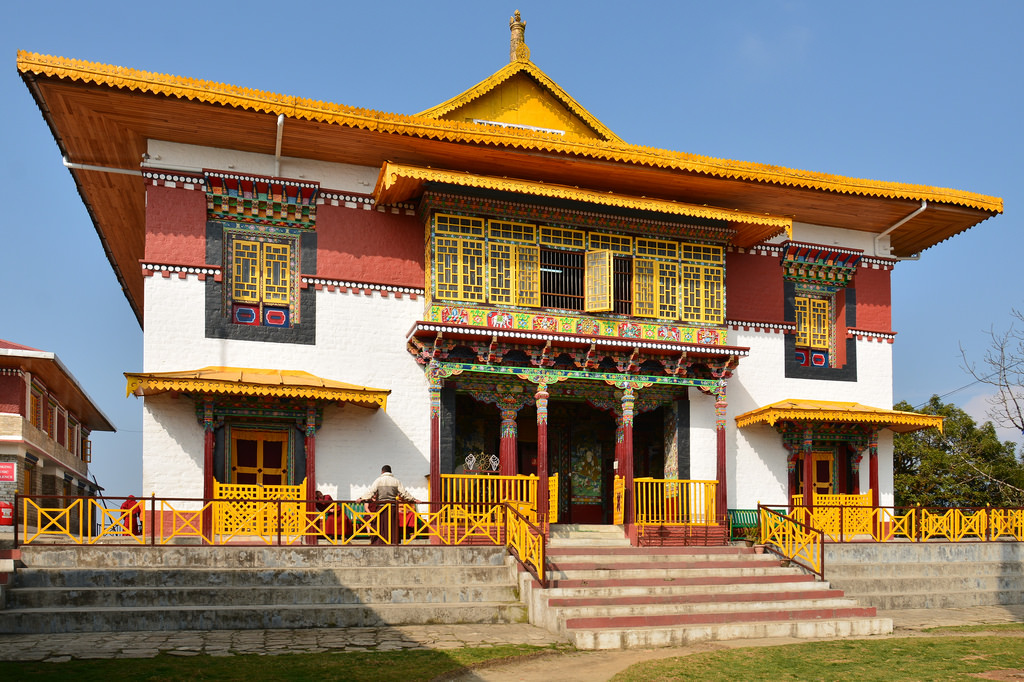 Pemayangtse Monastery in Sikkim, founded by Lhatsun Namkha Jigme of the Nyingma tradition.