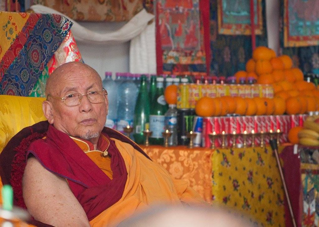 His Holiness the 101st Gaden Trisur Lungrik Namgyal Rinpoche, the ex-Throne Holder of the