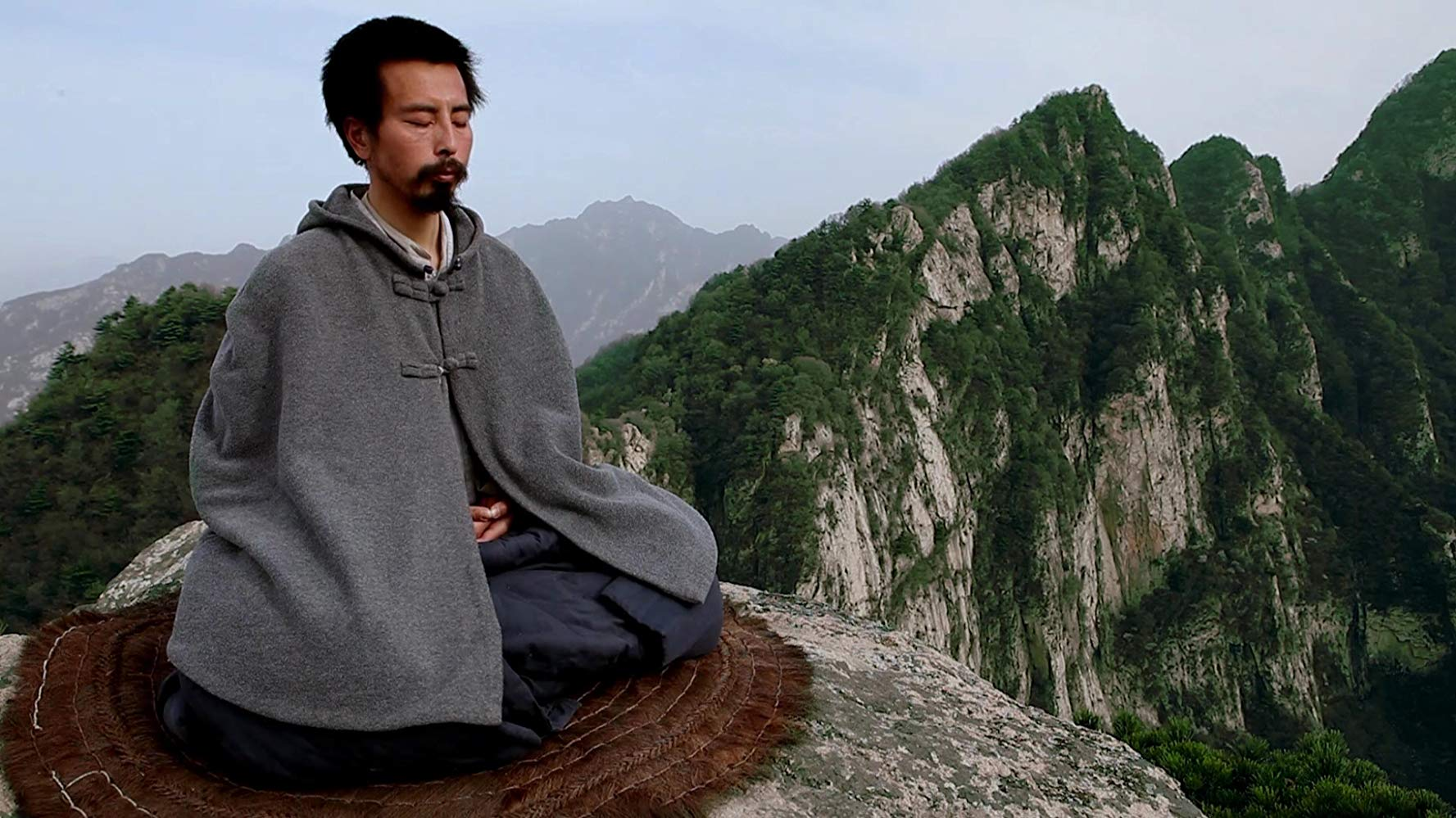 A Chinese hermit meditates high above the Zhongnan Mountains in China