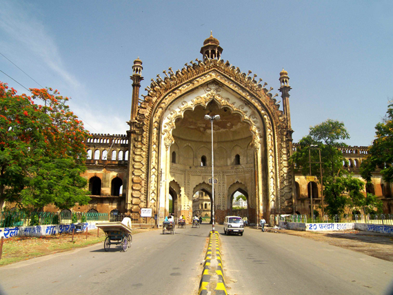 Rumi Gate, a famous landmark in the Northern India