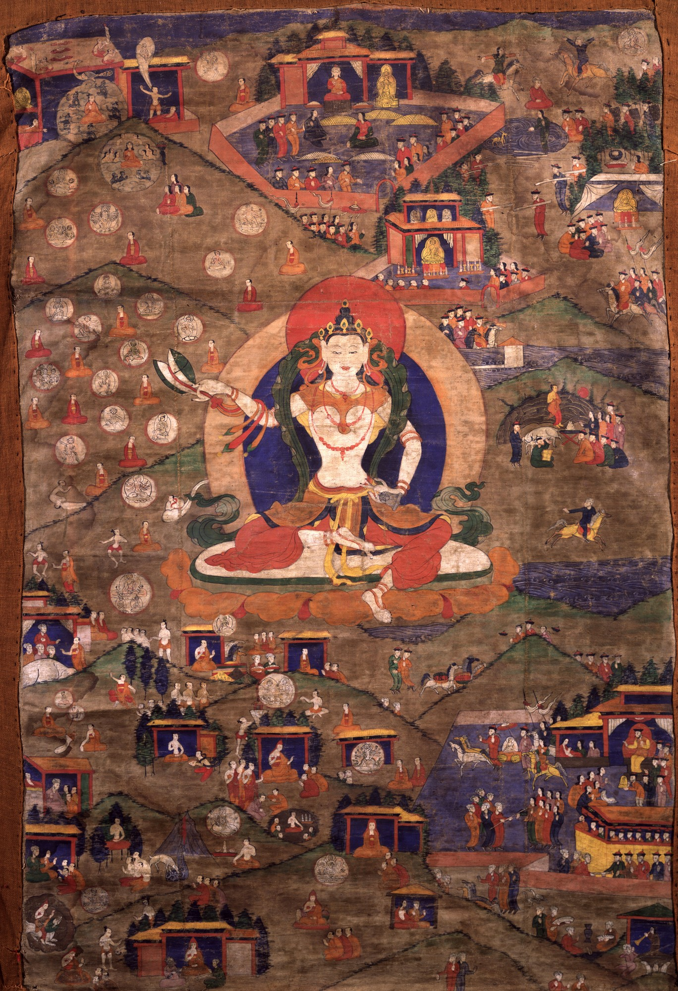 Another thangka of Machik Labdron. Image credit: himalayanart.org. Click on image to enlarge.