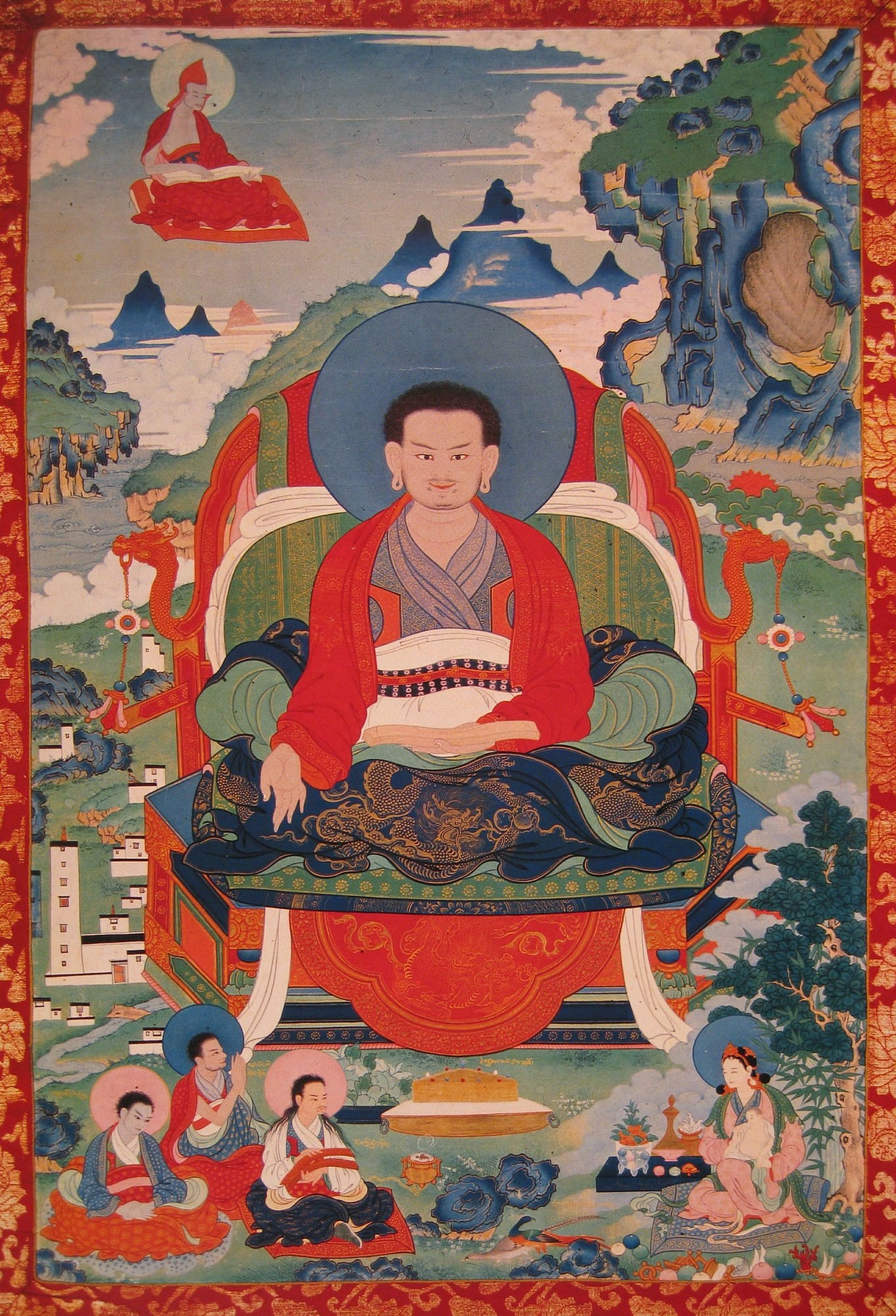 Marpa Chokyi Lodro. Image credit: himalayanart.org. Click on image to enlarge.