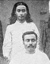 The young Yogananda with one of his brothers, Ananta