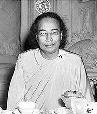 This picture of Yogananda was taken approximately hour before he died.