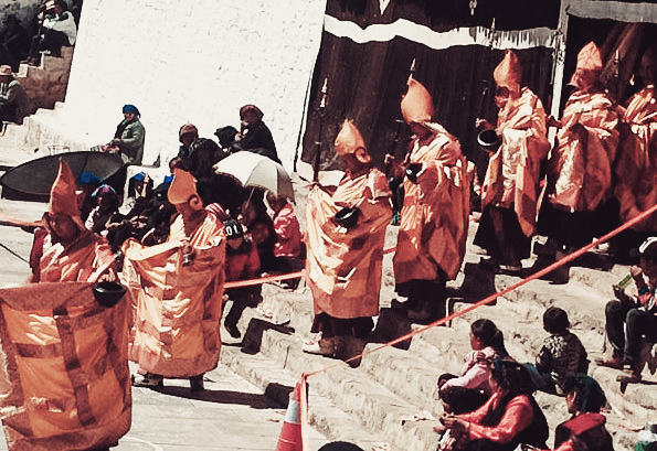 Monks dressed as the Eight Guiding Monks