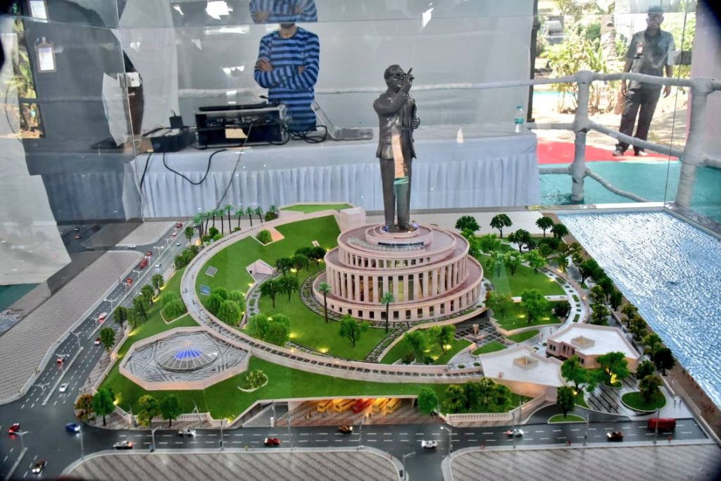 A virtual contruction model for the Grand Memorial of Bharatratna Dr. Babasaheb Ambedkar