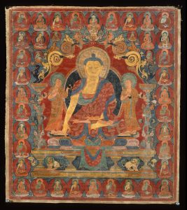 A thangka of the 35 Confessional Buddhas.