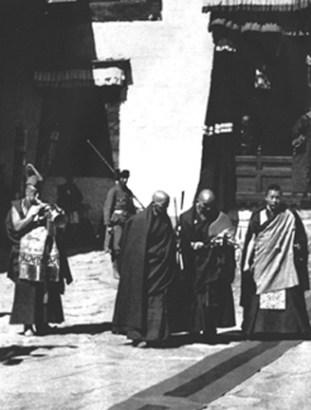 His Holiness the 14th Dalai Lama at Dungkar Monastery in Tibet 1951