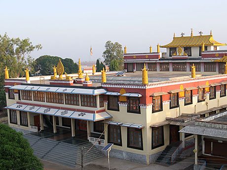 Gaden Shartse Monastery in Mundgod, South India
