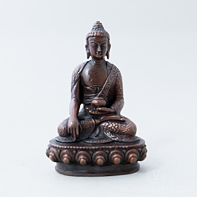 Buddha Shakyamuni copper statue, 3 inches. To see this item click here. SHAKYAMUNI COPPER STATUE, 3 INCHES