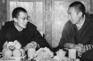 His Holiness the 14th Dalai Lama and His Holiness the 10th Panchen Lama.