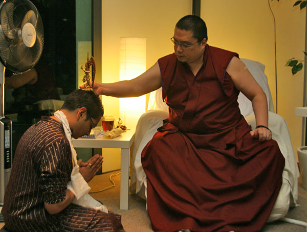 His Eminence Tsem Rinpoche granting me his powerful blessings of protection during my first visit to Malaysia