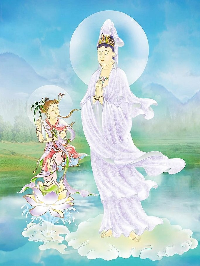 29. Clasped Palms Guan Yin (Click to enlarge)