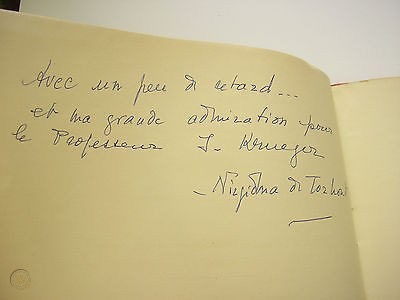 A handwritten inscription that Nirgidma composed for a limited edition print of her book