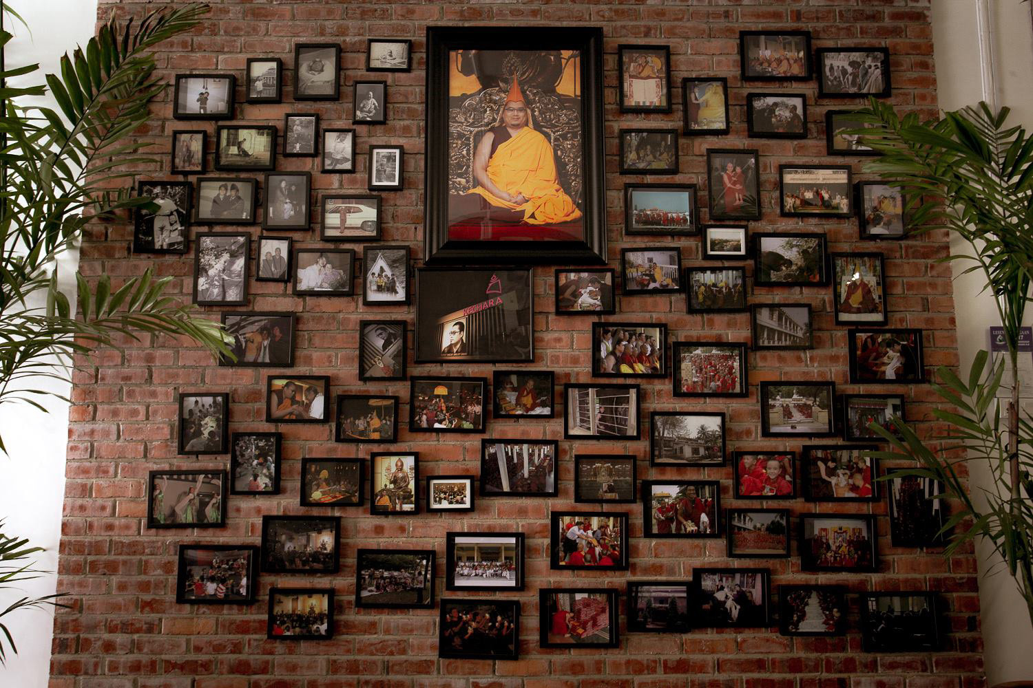 An interesting, creative photo wall inside the Kechara Puja House. Click on image to enlarge.