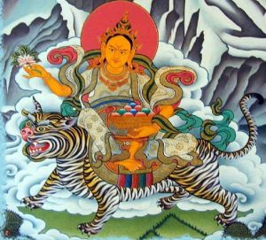 Miyo Langsangma, the Goddess of Inexhaustible Giving. Click to enlarge.