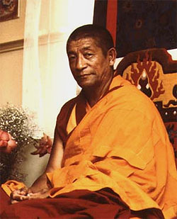 Venerable Geshe Rabten Rinpoche who was sent to Switzerland by His Holiness the Dalai Lama to preserve and spread the Dharma there