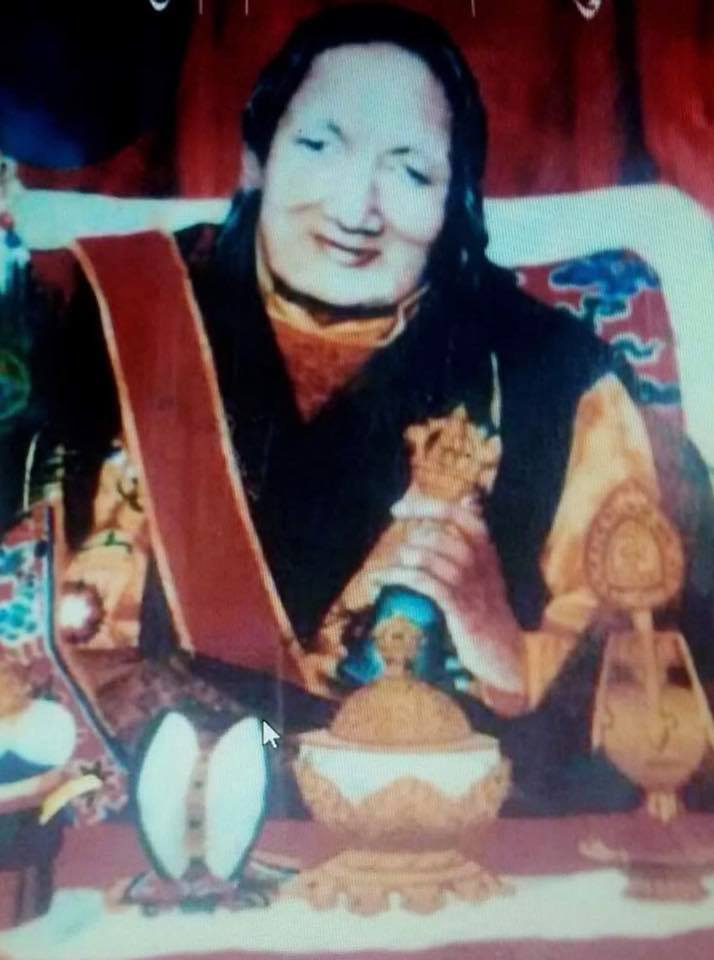 This is Shugsep Khandro. Lama Serpo stayed with her for a few months before proceeding to Kham. She was the Abbess of Shugsep Nunnery. Around 700 nuns studied and practised there. She prophesied that Lama Serpo would live to 95 years old.