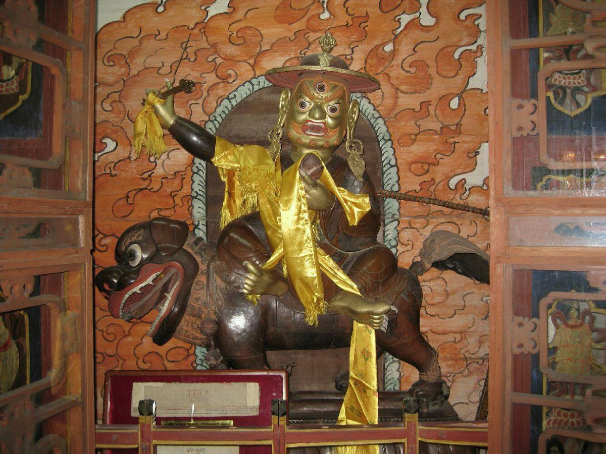 An ancient Dorje Shugden statue at the famed Choijin Lama Temple